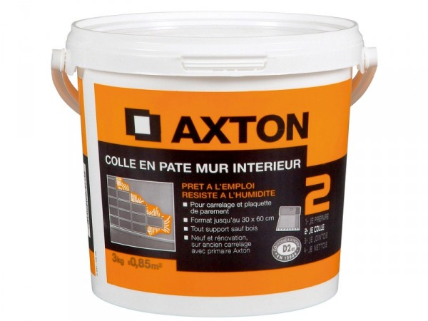 COLLE MURALE EN PATE AXTON BLANC 3KG