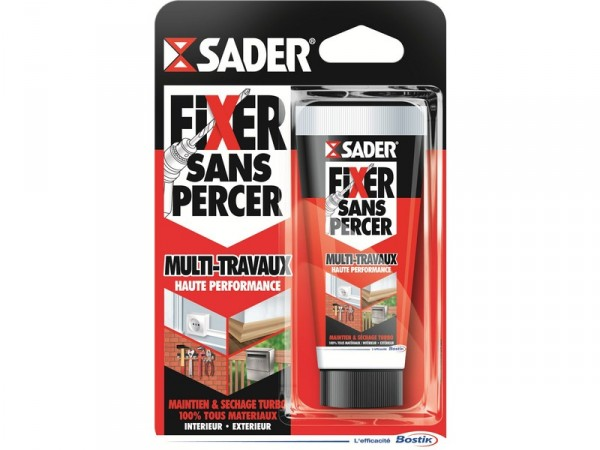 Colle De Fixation Ms Polymere Fixer Sans Percer Blanc Sader 50g
