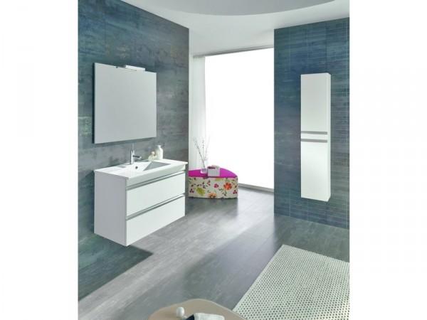 miroir de salle de bain 80x60 cm pour meuble vega